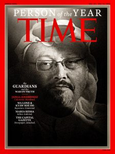 "Time names Khashoggi and journalists ""person of year"""