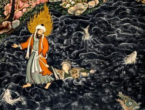 Moses and al Khidr, the most enigmatic figure of Islam