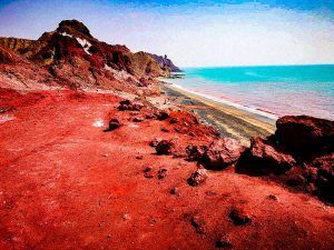 Hormuz, the red island that gives its name to the strait